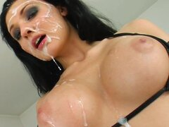 Darr-haired angel gets fucked in hardcore way