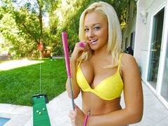 Incredibly Hot busty Blonde in an outdoor fuck scene. Great POV action!