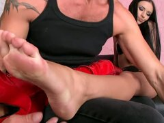 This crazy couple have a kinky foot fetish
