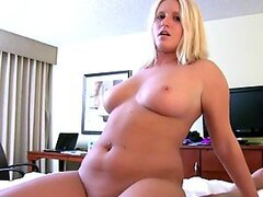 This fat ass and horny girl loves giving a head