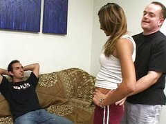 Brunette gets creampied