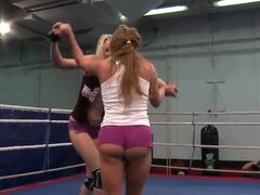 Now you are able to check up the lesbian wrestling scene with Angel Long...