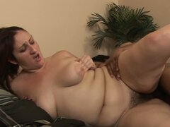 White fat milf Sonia Blaze fucks black dude with her hairy pussy