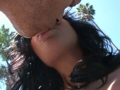 Andy San Dimas sexy babe kissing with horny guy