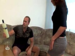 RUSSIAN COUPLE FUCKING HARD AT HOME !!