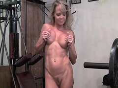Mature blonde masturbation