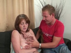 Nasty mother in law after showe drilling