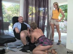 Momma wants her daughter to be known as a blowjob queen and teaches her