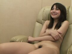 Asian cute teen Etsuko Hatanaka enjoys tender masturbation