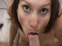 Lelu Love-Lipstick Blowjob Cum On Chest