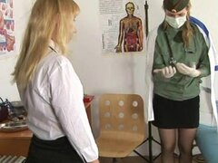 College babe visits a gynecologist