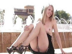 Courtney gorgeous blonde girl public flashing tits and posing outdoor