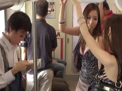 Hot Japanese public sex with group