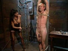 Poor Bastard enjoys getting Tortured and Fucked in BDSM Session