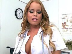Naughty Nurse Nikki Delano Loves To Have a Big Cock Between Her Tits