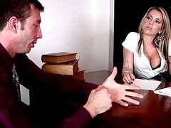 Pretty besty chick fucking a dude in her office