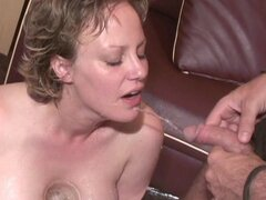 Horny as hell blonde is a mature cock-sucking beauty