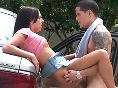 Horny Couple Has Wild Hardcore Sex In The Parking Lot In Public