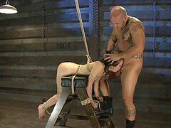 Cute Brunette Slut Tied Up & Treated Like Sex Slave