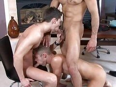 Three awsome hunks become dirty sucking each others cocks