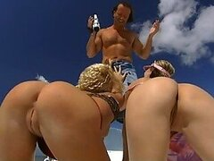 Sexy FFM Threesome with Cristina Blond and Jessica May On a Boat