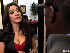 Dean Raylene has but a hot mouth as she blows a big black