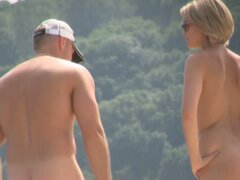 Nude beach video starring  blonde naked milf