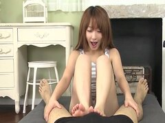 Horny guy has a fun time with cute Japanese teen Sana Anzyu when she sucks his hard dick