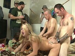 Guy�s Birthday Party Becomes Gang Bang Party