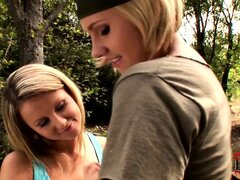 Cute blonde dykes eat each other out and play with their feet