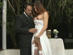 Newly-wed shemale can't wait to fuck her hubby