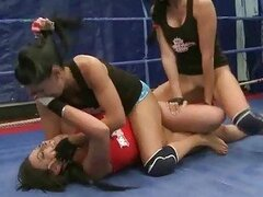 Three nasty brunettes fighting