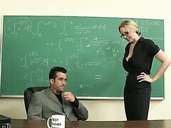 Julia Ann has fun with new teacher classroom