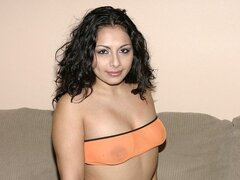 A horny Latina cutie will do anything to get a ride and she's willing to try any tool