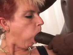 Redhaired Anal Mature Jana in Stockings Enjoys Young BBC