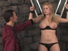 Busty Danielle in naughty BDSM