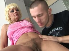 Granny Orchidea Seduces Tomi To Get Her Old Pussy Fucked