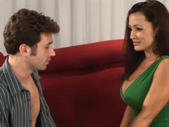 Lisa Ann seduces James Deen and fucks him in her flat