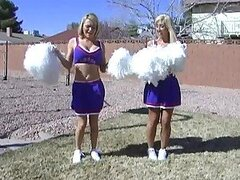 Blonde Sister Cheerleaders Jessica and Krissy Lynn Fucked In Threesome