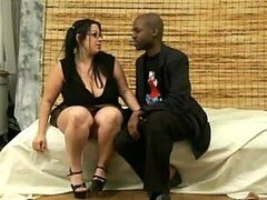 Black guy nails a cute BBW babe