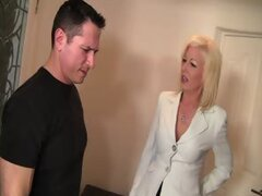 Busty MILF Sindi Star Fucks Son's Boss n' Tosses Salad!