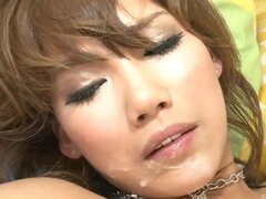 Akiho Nishimura interviewed then fucked and given a facial cumshot
