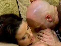 Tattooed bald guy drills tasty wet pussy of kelly taylor