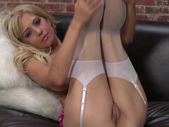 Golden blonde Chrissy is very hot