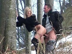Two Horny Freaks Fuck Outdoors