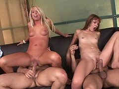 Babes Elli Fox and Brynn Tyler Swapping Partners in Foursome