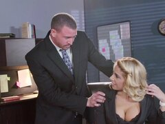 Office slut enjoys her boss
