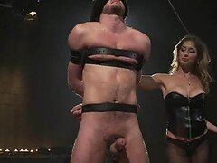 Busty and Sexy Dominatrix Fucks a Guy with Strapon and Gets Banged