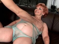 Horny fat grandma enjoys a good fucking session