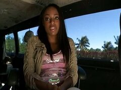 Ebony ass fucked hard on the bangbus
